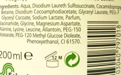 Listado de ingredientes INCI